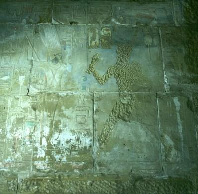Karnak-Ausgehackte Hatschepsut