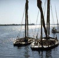 Nil- Lastkähne für Massengüter