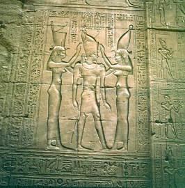 Edfu-Pharao-Frauen-Unter-Oberägypten