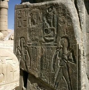 Totentempel-Ramesseum-usurpierte Stele