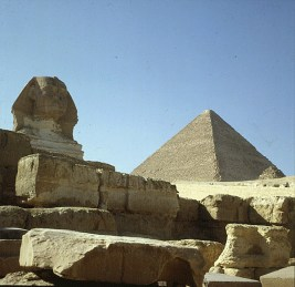 Gizeh-Shpinx-Cheopspyramide