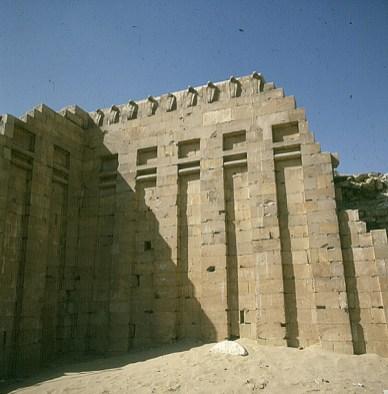 Gizeh-Sakkara-Djoser-Südgrab-Holzimitation