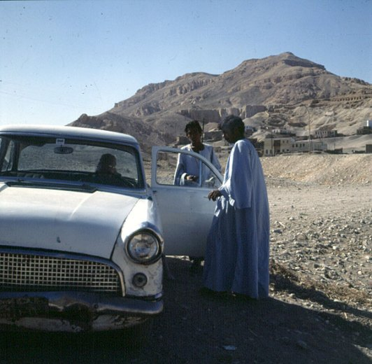Ägypten Taxi in Kurna 1978
