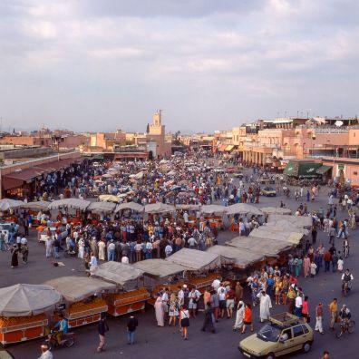 Marokko Marrakesch Place Djemnaa el Fna 1995