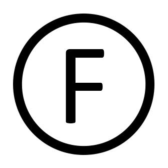 Simbolo lavaggio a secco con idrocarburi
