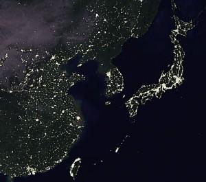 地球の灯り