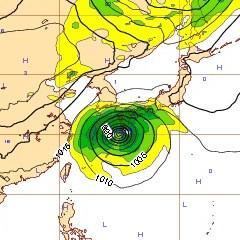 台風19号 ECMWF
