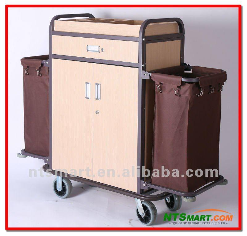 Multi Purpose Hotel Housekeeping Maid Cart Trolleywood