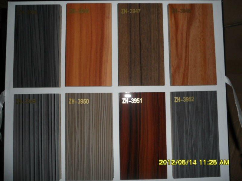 Kitchen Cabinet Amphigh Gloss Uv Wood Grain Door Modern