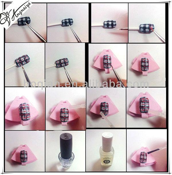 Boqian Factory Direct 7pcs Brush Nail Art Painting Set
