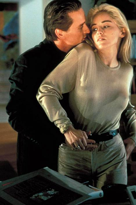 Michael Douglas and Sharon Stone in the film Basic Instict in 1992.