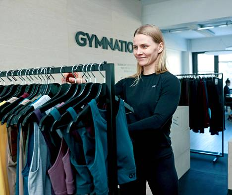 Gymnation does not have stone-foot shops, but you can show off your products in Pitäjänmäki.