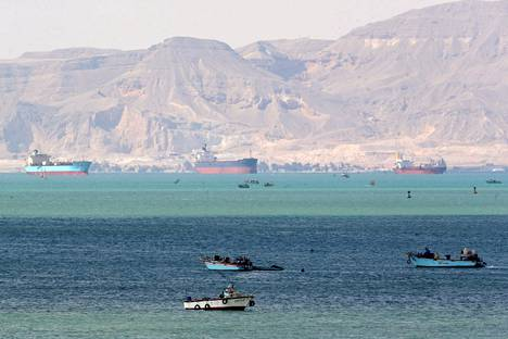 The photo of the Gulf of Suez was taken on Sunday.