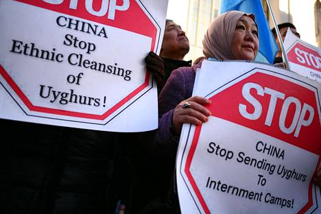 In January 2020, Uighur activists protested in London.