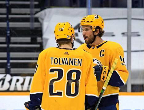 Tolvanen has quickly gotten into the same field with tough names.  Here's a chat partner, Roman Josi.