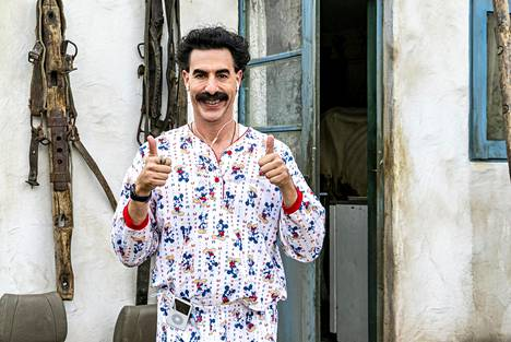 Borat's filming team carried the recordings of the raging interview in their pants out of the hotel room.