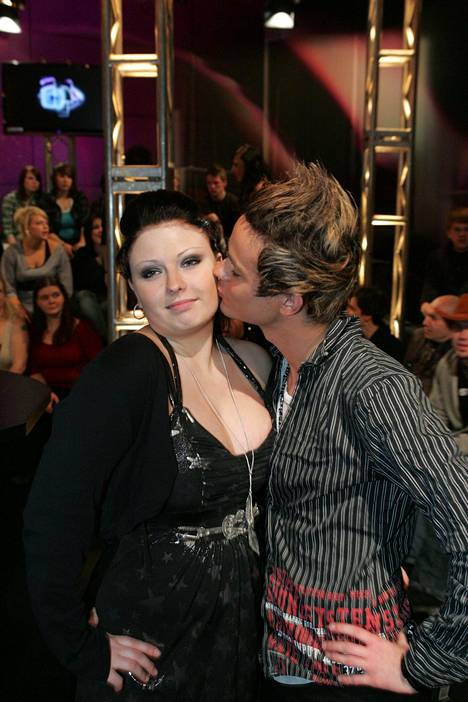 Big Brother final in 2008. Pictured are Minna and Niko.