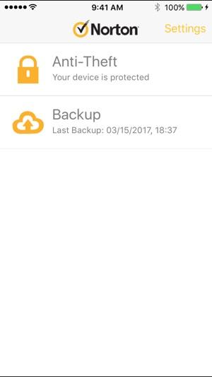 Norton Mobile Security. Screenshot