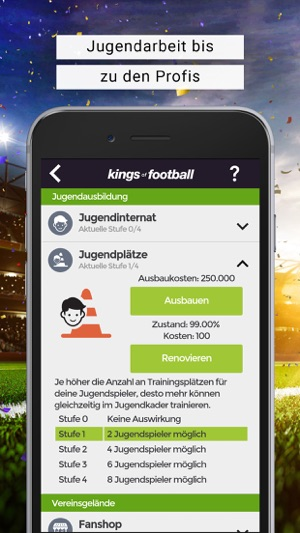 ‎Fussball-Manager KoF Screenshot