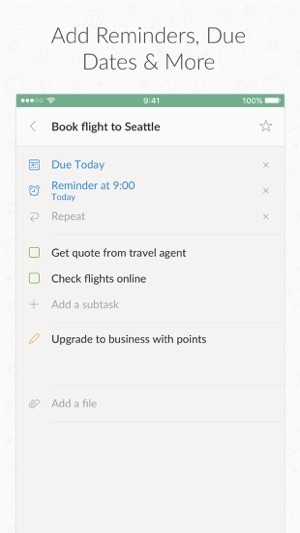 Wunderlist: To-Do List & Tasks Screenshot