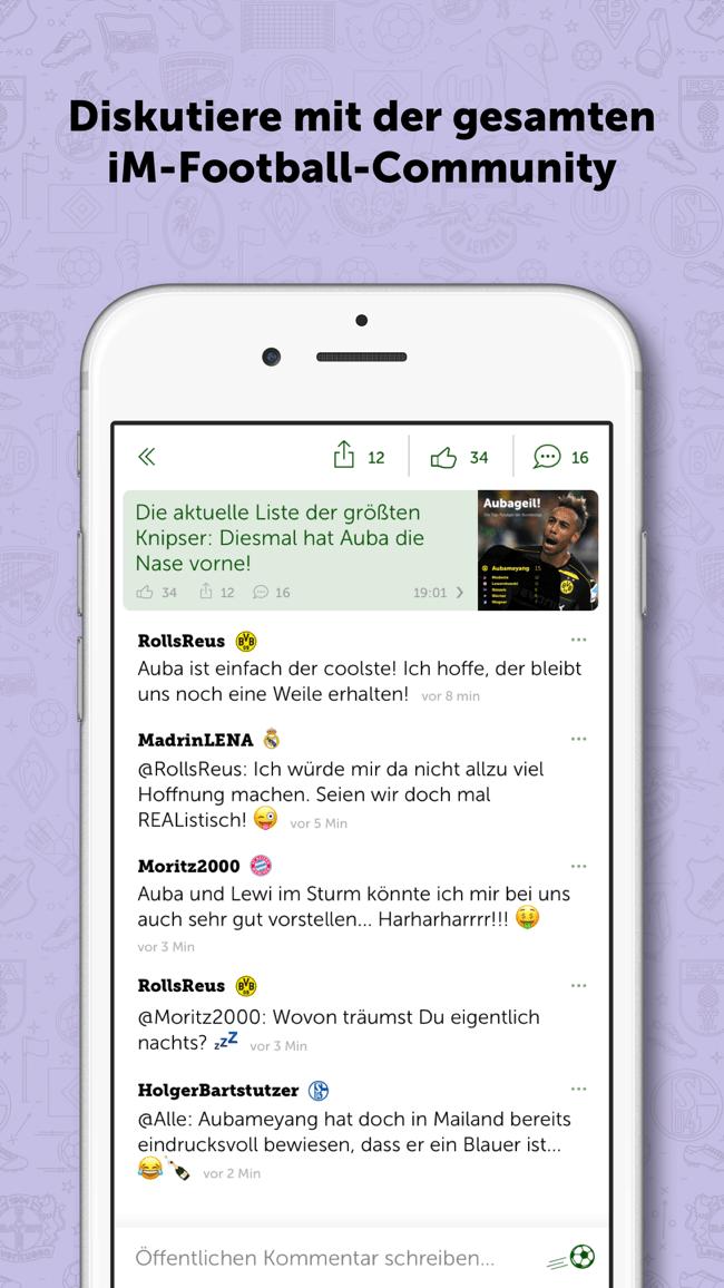 iM Football - Der Fan-Messenger Screenshot