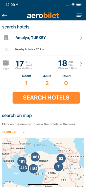 ‎Aerobilet - Flights, Hotels Screenshot
