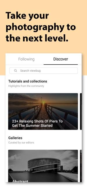 ViewBug - Fotografie Capture d'écran