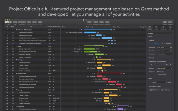 Project Office: Gantt chart Screenshot 01 x36bkn