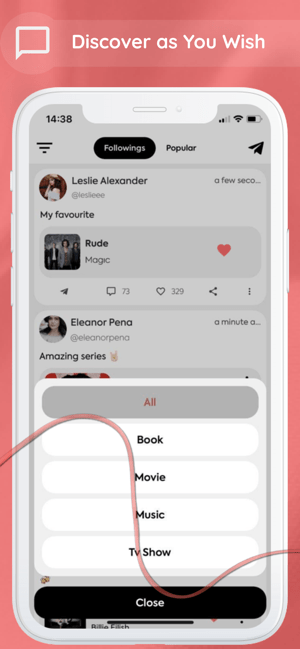 Charmy: Discover Music & Movie Screenshot