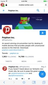 Psiphon 3 Browser