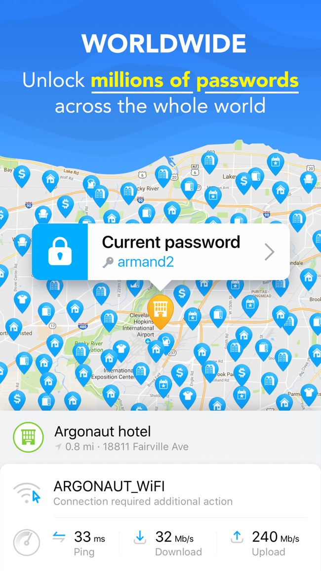WiFi Map Pro - Free Internet Screenshot