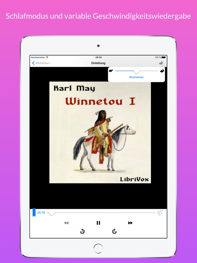 Hörbücher LibriVox Screenshot