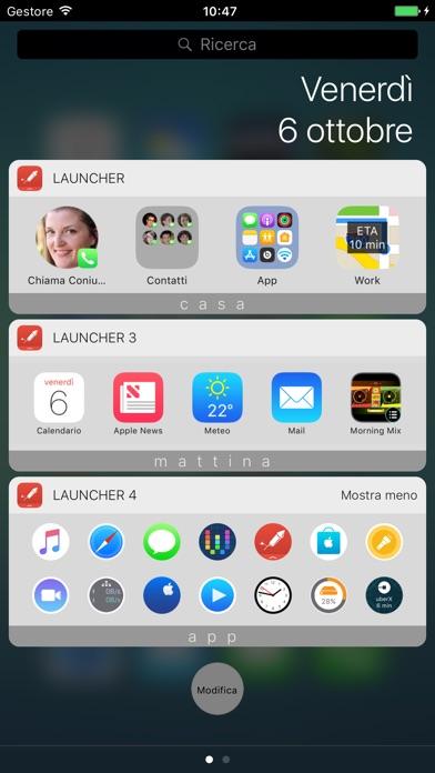 Launcher con widget iPhone