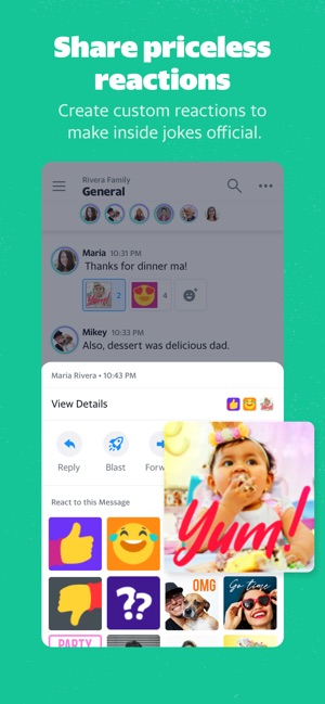 Yahoo Together - Gruppenchat Screenshot