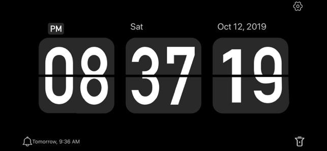 Flip Clock Digital On The