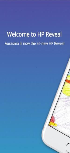 HP Reveal Screenshot