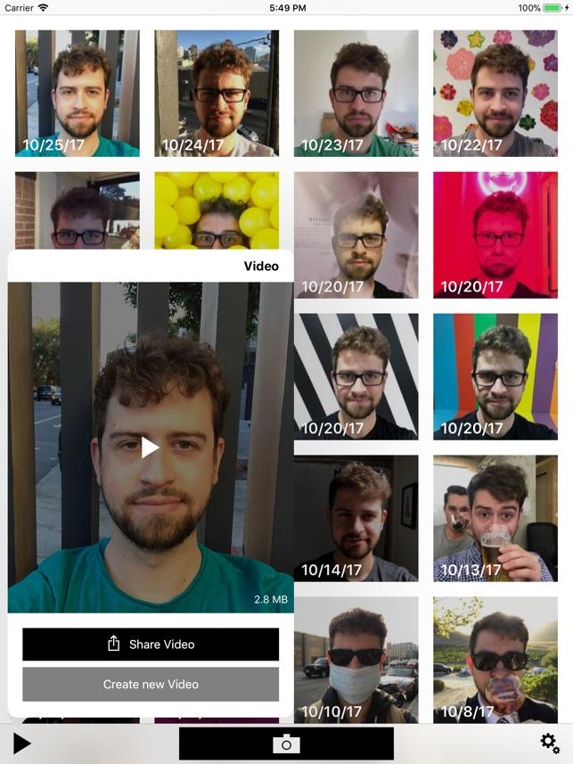 Close-up, daily selfies Screenshot