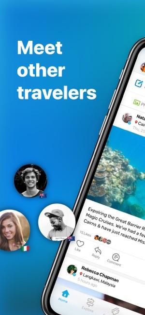 Travello Travel Social Network Screenshot