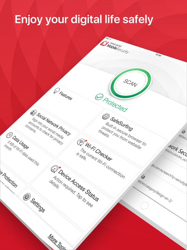 Trend Micro Mobile Security Screenshot