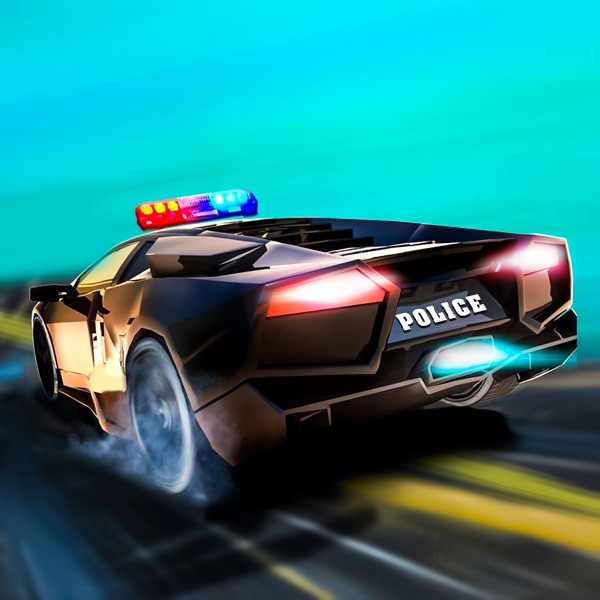 3D City Crime Police Car Drift Racer