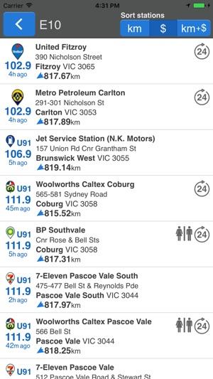 Petrol Spy Australia Screenshot