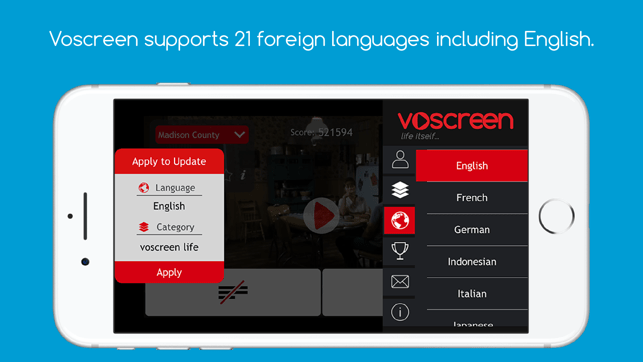 ‎Voscreen - Learn English Screenshot