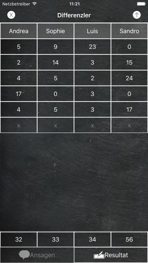Jasstafel Screenshot