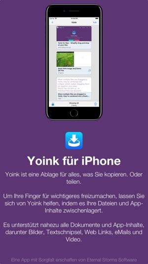 Yoink - Besseres Drag und Drop Screenshot