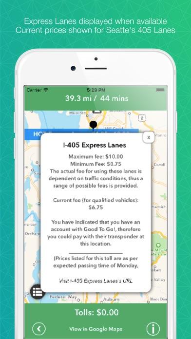 Tollsmart Toll Calculator for Cars, Trucks & RVs Screenshot
