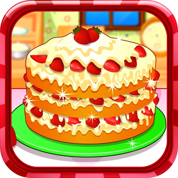 Strawberry short cake - Cooking game