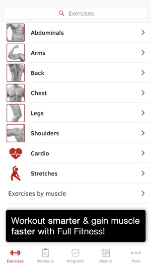 Full Fitness : Exercise Workout Trainer Screenshot