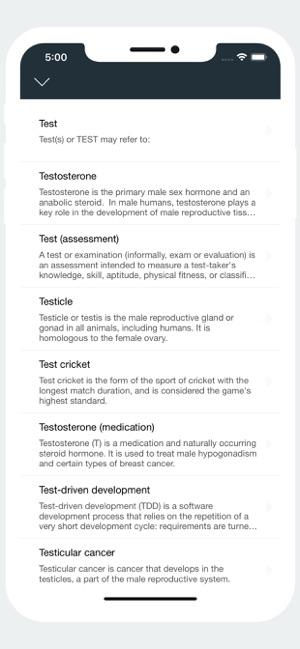 Thesaurus & Dictionary Screenshot