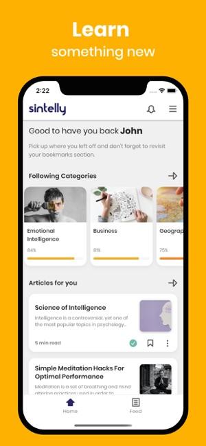 Sintelly: Psychology & Emotion Screenshot