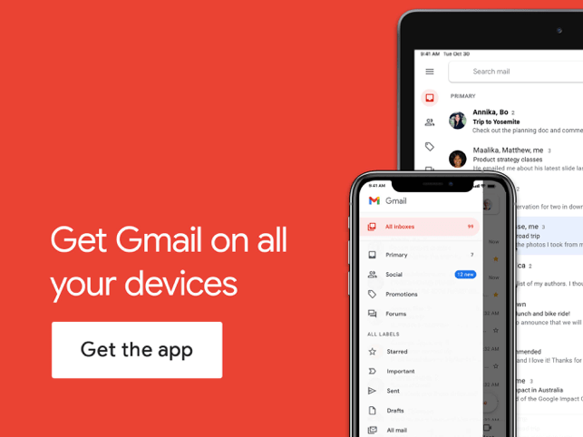 ‎Gmail - Email by Google Screenshot